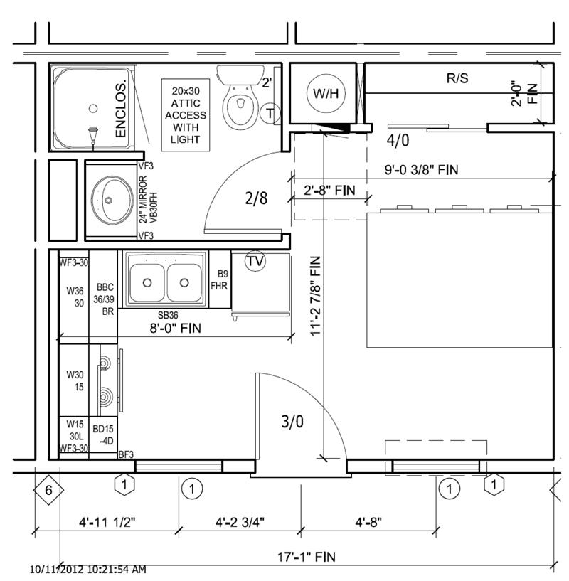 Telluride Lodge Unit Floor Plan